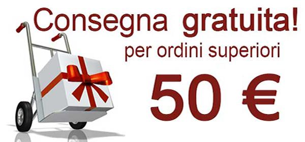 Consegna gratuita per ordini superiori 50€
